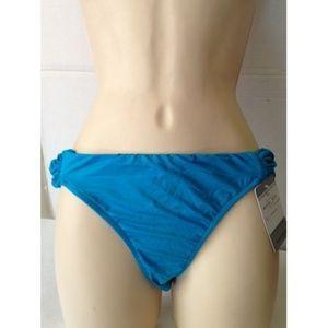 NWT Vitamin A Scrunch Bikini Bottoms BLUE #178